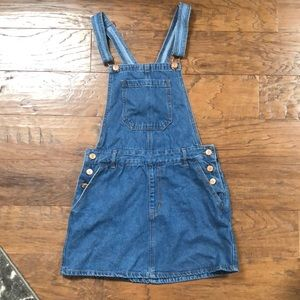 Overall denim dress